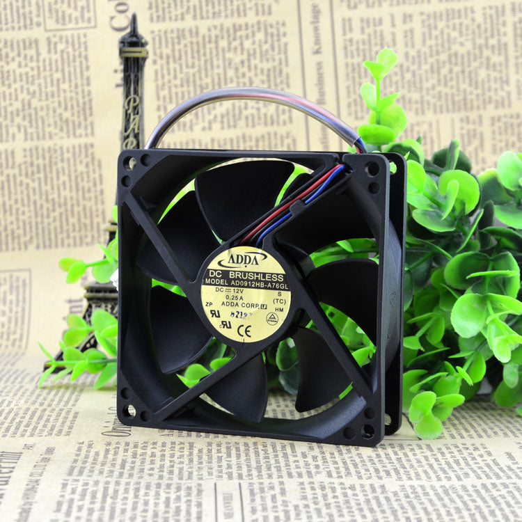 For original ADDA 9CM 9025 12V 0.25A AD0912HB-A76GL chassis power cooling fan - ebowsos