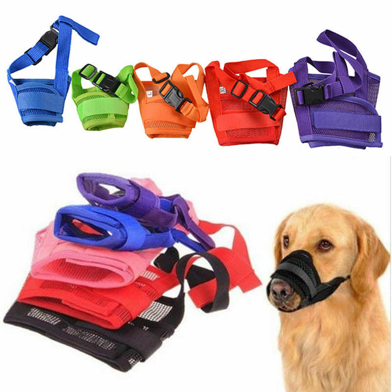 PUPPY-PROTECTION™ - Soft Adjustable Anti Bark Bite Fabric Muzzle Breathable Mesh
