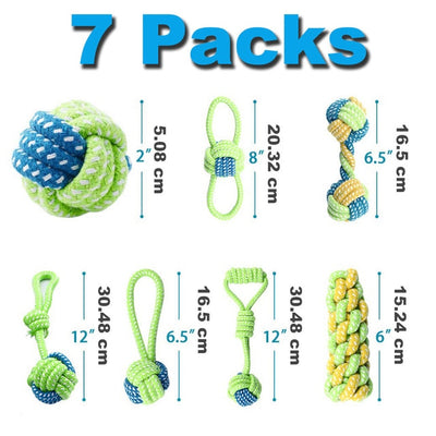 PUPPY-PROTECTION™ - 7 Pack Dog ToothBrush Toys For Small Puppy