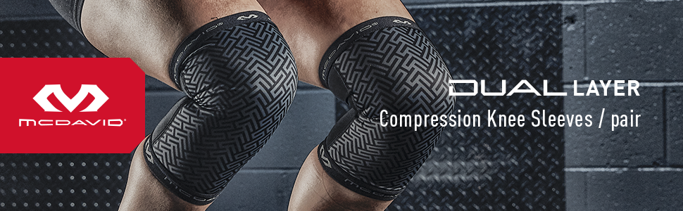 Dual Layer Knee Compression Knee Sleeves Product Header