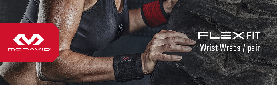 Flex Fit Wrist Wraps for Strength Training Product Header