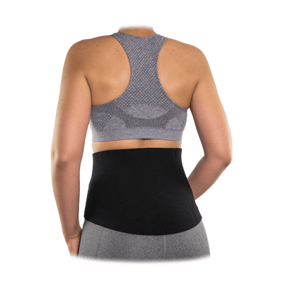 McDavid Women's Waist Trimmer on Mid-Section  - Back View of Full Wrap to Help Slim, Lose Weight, and Burn Calories
