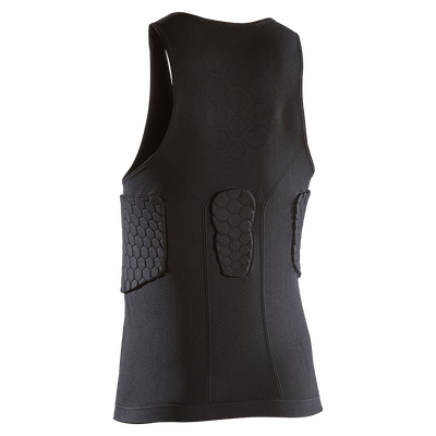 Black ELITE HEX® Tank Shirt/3-Pad - Back Shot Featuring Unique HEX Padding