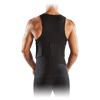 Black ELITE HEX® Tank Shirt/3-Pad on Model - Back Shot of Tank Shirt