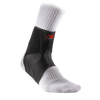 McDavid Phantom Ankle Brace with Stirrup Stays - Front Angle Shot on Foot Model Wearing Socks