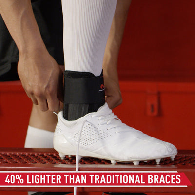McDavid Stealth Cleat Ankle Brace - Tech Callout - 40% Lighter Than Traditional Braces