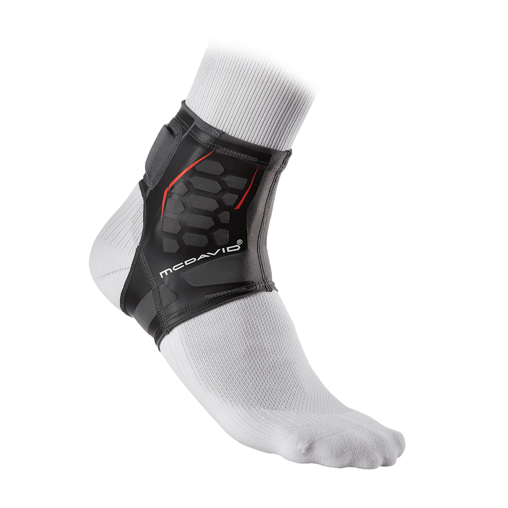 McDavid Sports Therapy Achilles Sleeve on Ankle with Sock