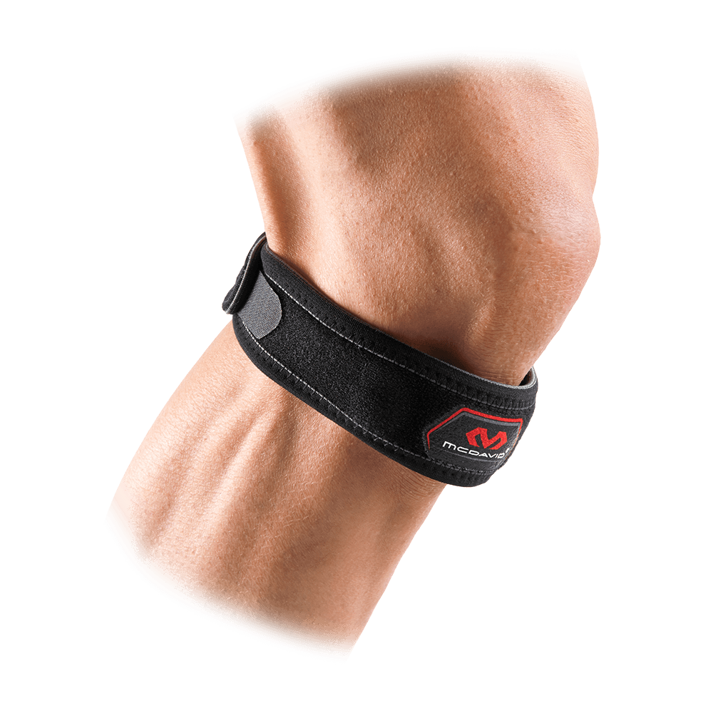McDavid Knee Strap/Patella - Black - On Model
