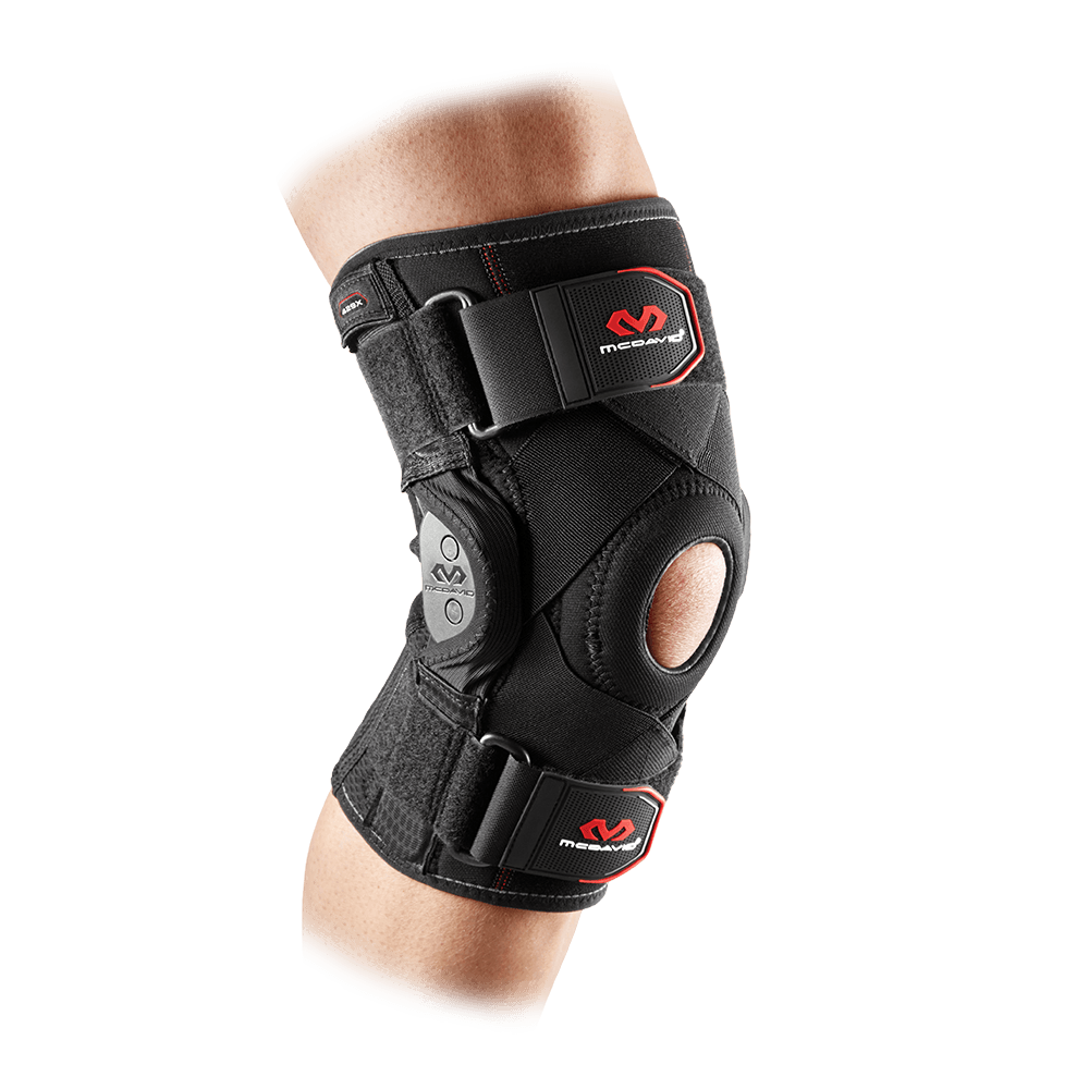Knee Brace w/ Polycentric Hinges & Cross Straps