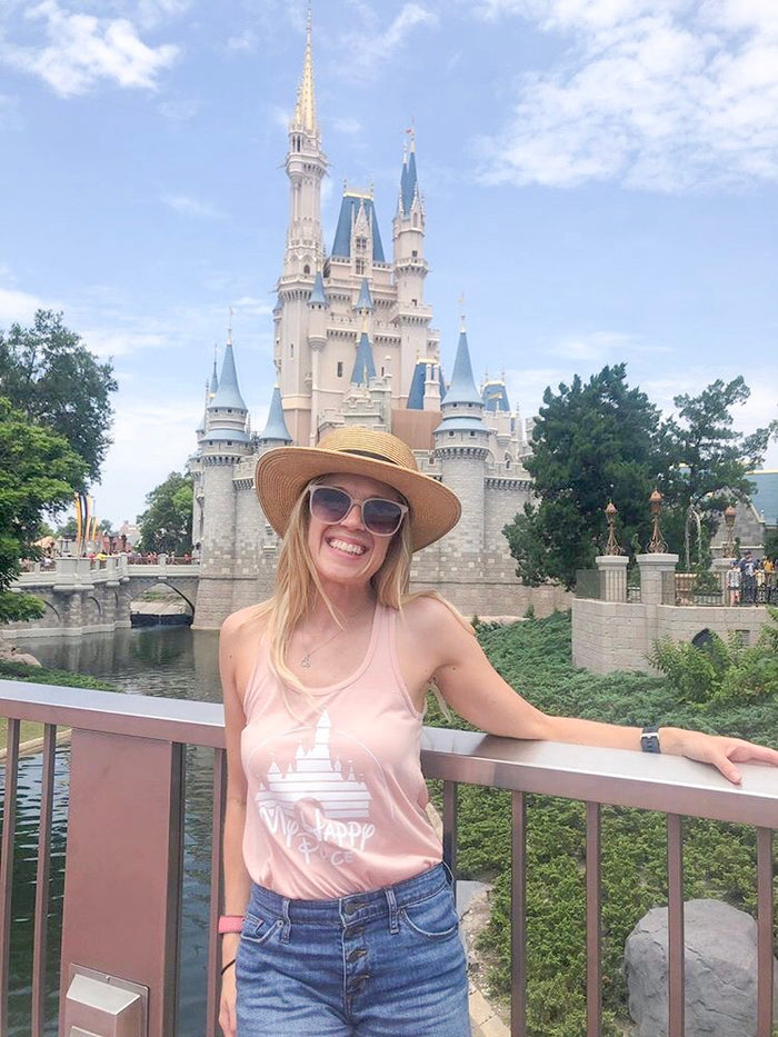 My Happy Place / Flowy Tank Top - Disney MatchingShirts, Disney Family Shirts, Disney Couple Shirts from The FMLY shop