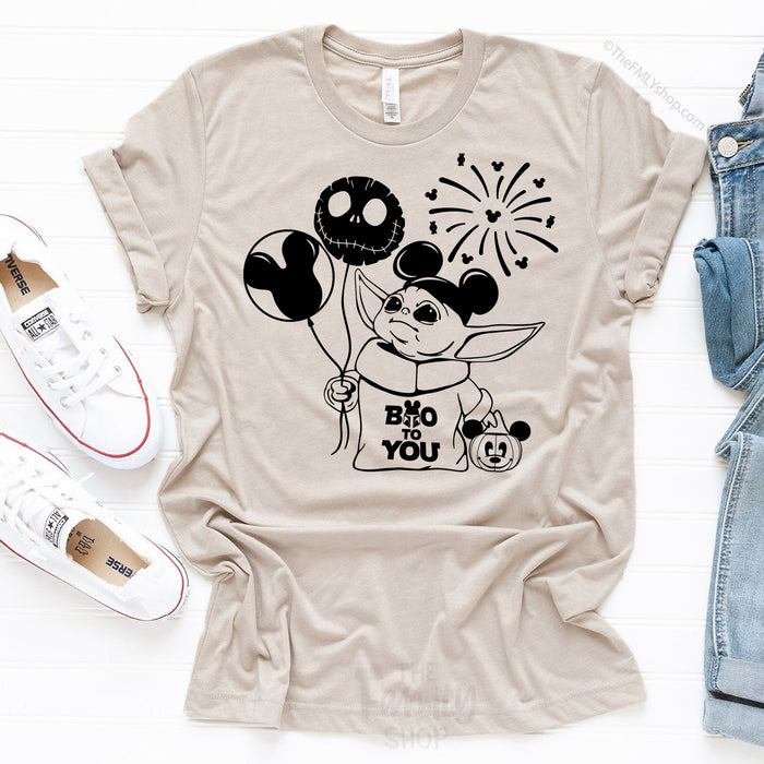 Halloween Baby Yoda Disney T-shirt, Boo To You Baby Yoda Shirt