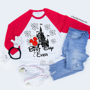 Best Day Ever with Micky Balloon / Raglan Tee - Disney MatchingShirts, Disney Family Shirts, Disney Couple Shirts from The FMLY shop