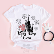 Best Day Ever - Disney Castle Shirt - Disney MatchingShirts, Disney Family Shirts, Disney Couple Shirts from The FMLY shop