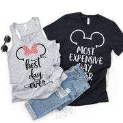 Best Day Ever - Most Expensive Day Ever / Disney Couple Shirts