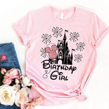 Birthday Girl and Birthday Squad Disney Birthday Matching Shirts for family and friends