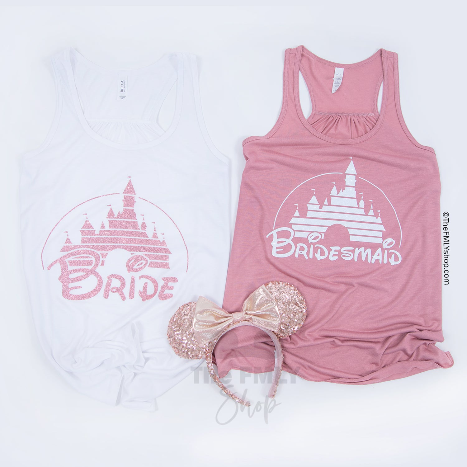 Disney Bachelorette Party Tanks / Disney Castle Flowy Tanks (8 Design Options) - Disney MatchingShirts, Disney Family Shirts, Disney Couple Shirts from The FMLY shop