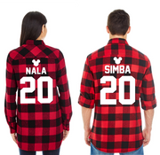 Matching Couple Plaid Shirts