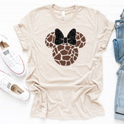 Giraffe Minnie Mouse, Animal Kingdom Disney Shirt, Safari Animal Kingdom Shirt