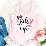 Girls Trip Disney Tank Top, Disney Friends Trip Tanks, Disney BFF Trip Top