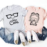 Her Carl His Ellie Disney Matching Shirts, Up Carl And Ellie Shirts, Her His Disney Matching Shirts