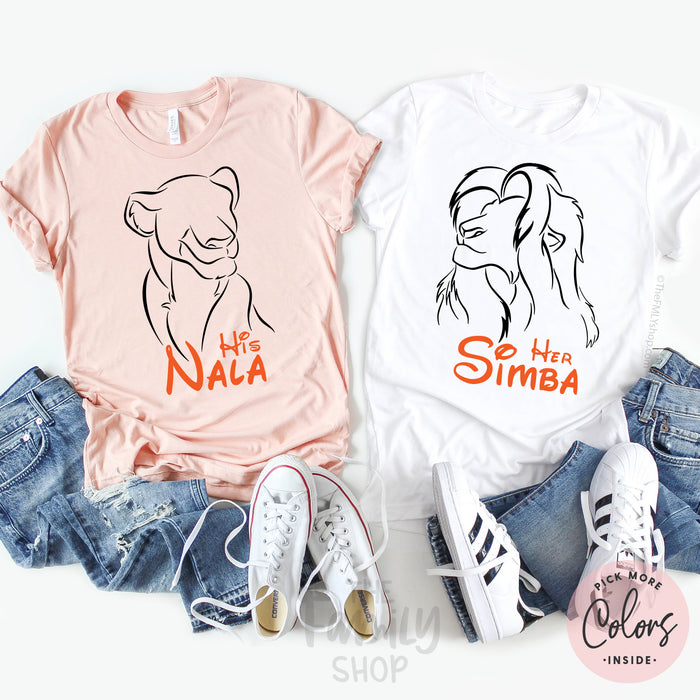 Her Simba - His Nala / Disney Couple Shirts