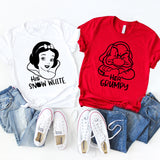 Her Grumpy, His Snow White, Disney Funny Shirts For Couple