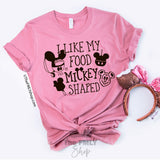 I Like my Food Mickey Shaped  / Tee or Tank - Disney MatchingShirts, Disney Family Shirts, Disney Couple Shirts from The FMLY shop