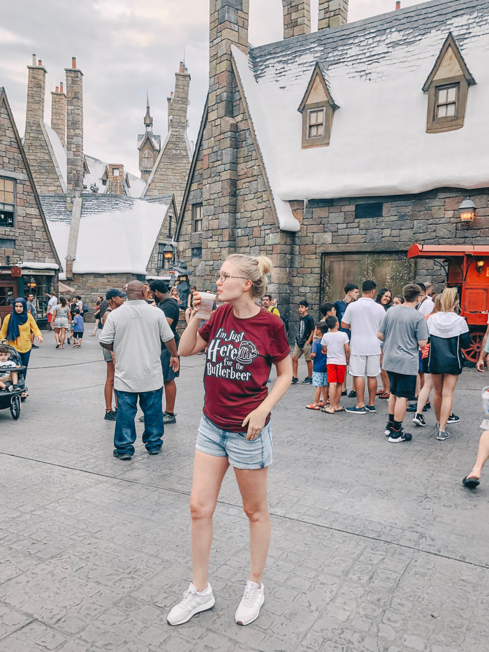 I'm Just Here for the Butterbeer T-shirt / Universal Park Shirt // Unisex T-shirt - Disney MatchingShirts, Disney Family Shirts, Disney Couple Shirts from The FMLY shop