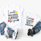I Would Walk Across Legos For You / Lego Mom & Son Matching Shirts Set of 2
