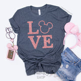 LOVE  Disney Shirt / Unisex T-shirt - Disney MatchingShirts, Disney Family Shirts, Disney Couple Shirts from The FMLY shop