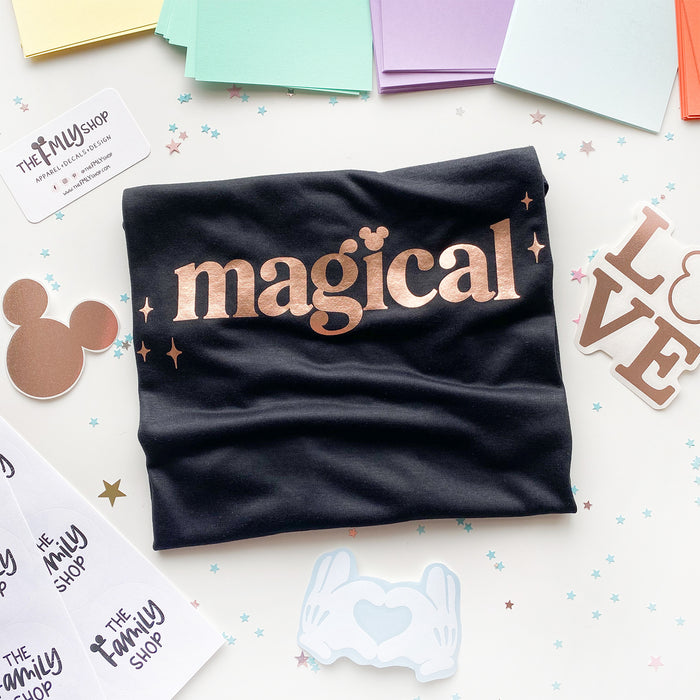 Magical Tank Top, Rose Gold Foil