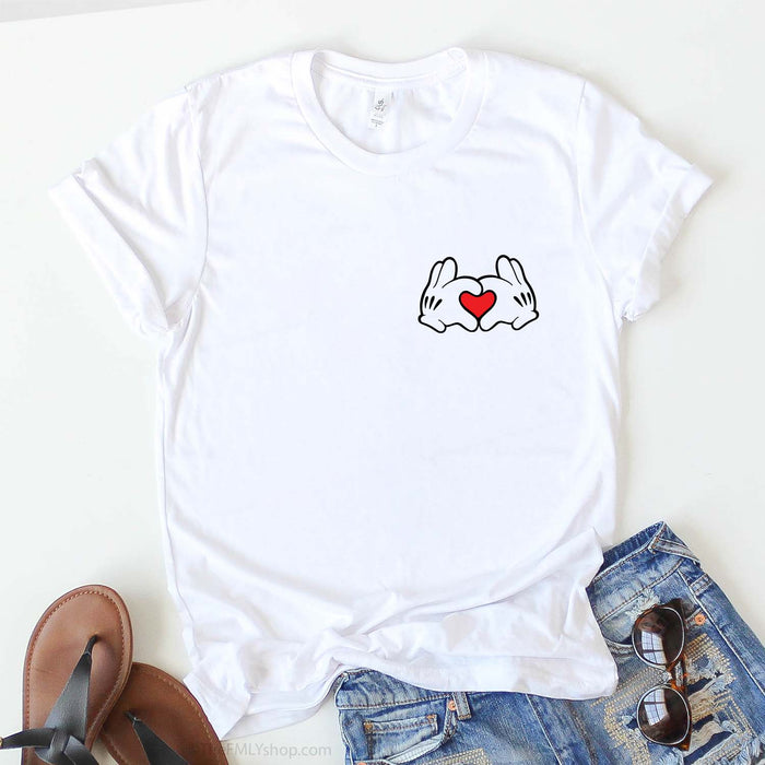 Mickey Hands Love Sign Disney Shirt, Pocket Size Mickey Love Shirt