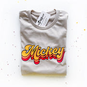 Mickey Retro Fall Colors Tee, Disney Fall Mickey Shirt, Retro Font Mickey Shirt