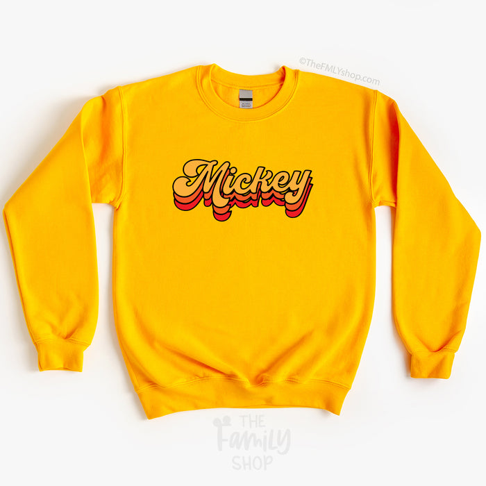 Mickey Fall Colors Sweatshirt, Disney Fall Sweatshirt, Mickey Crewneck