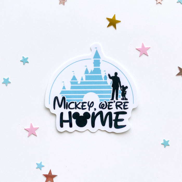 Mickey We're Home Sticker