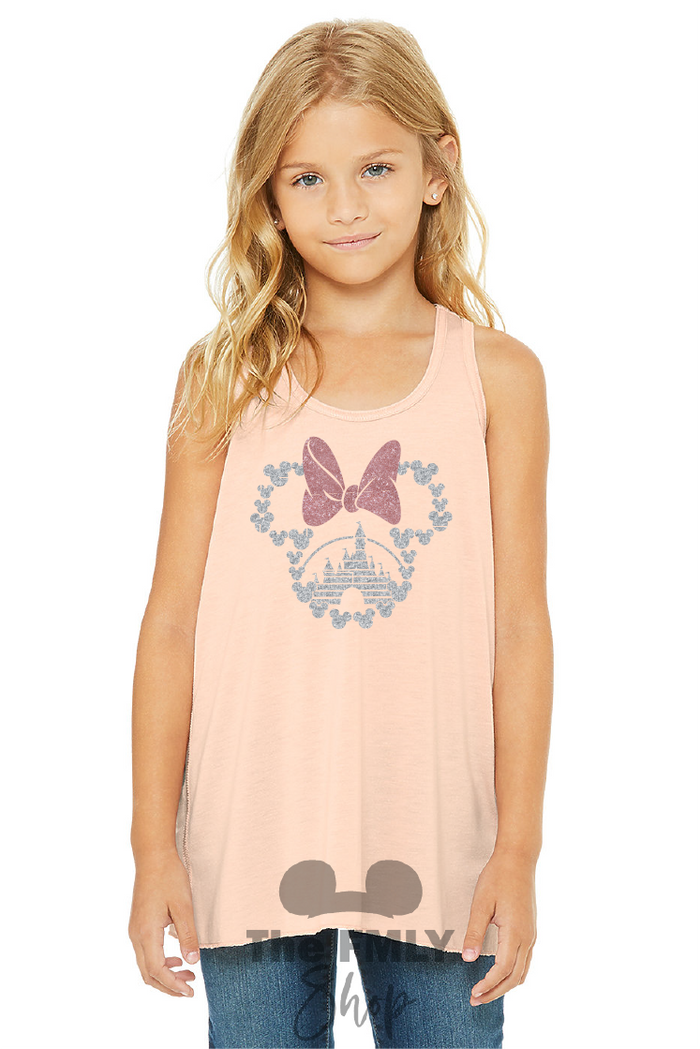 Minnie Mouse Girly Top / Youth Tank Top - Disney MatchingShirts, Disney Family Shirts, Disney Couple Shirts from The FMLY shop