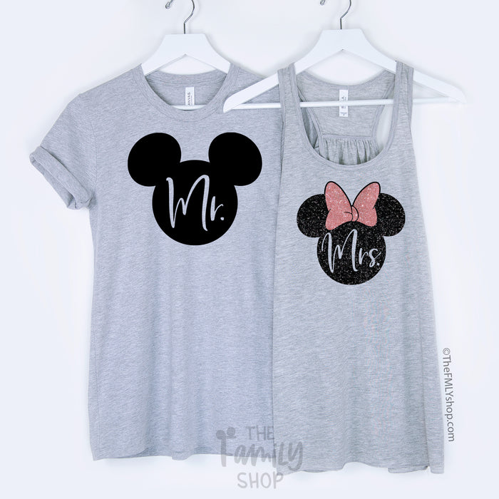 Mr & Mrs / Disney Couple Shirts - Disney MatchingShirts, Disney Family Shirts, Disney Couple Shirts from The FMLY shop