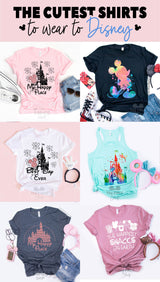 My Happy Place Rose Gold Disney T-shirt - Disney MatchingShirts, Disney Family Shirts, Disney Couple Shirts from The FMLY shop