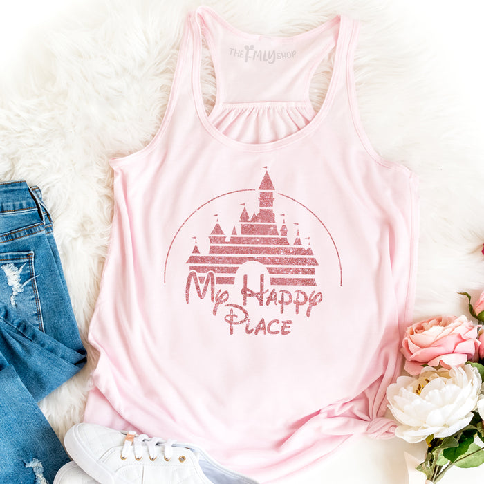 My Happy Place Disney Tank Top With Disney Castle