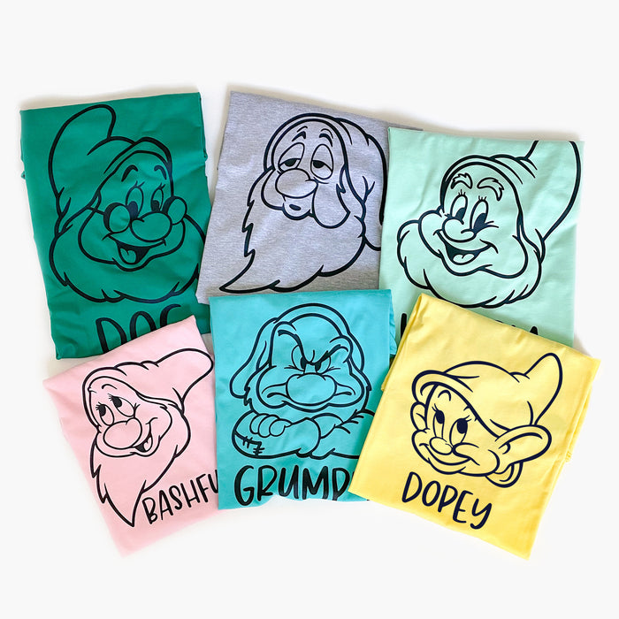 Seven Dwarfs Disney Matching Shirts, Disney Matching Shirts For Friends and Family