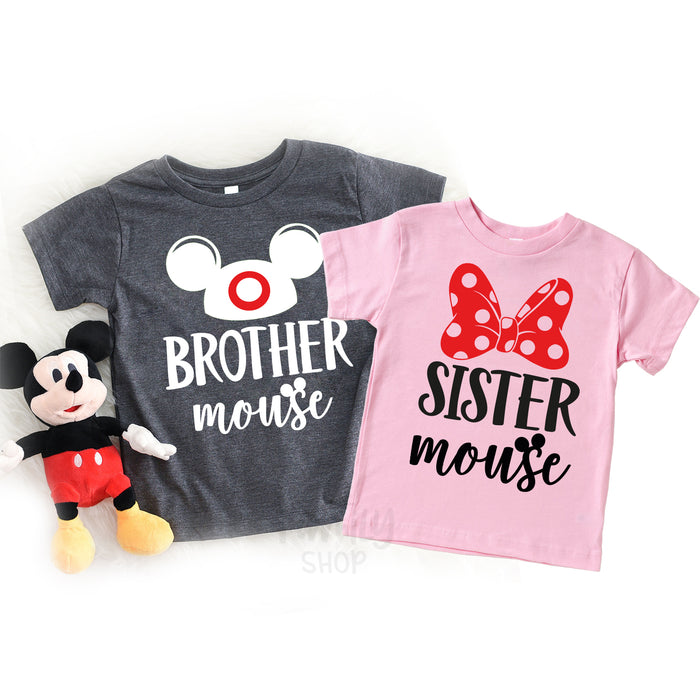 Mama Mouse, Mini Mouse, Daddy Mouse, Baby Mouse, Disney Family Matching Shirts