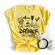 The Happiest Drinks on Earth, Disney Drinks Shirt, Epcot Drinks Shirt