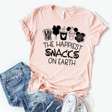 The Happiest Snacks on Earth / Unisex T-shirt - Disney MatchingShirts, Disney Family Shirts, Disney Couple Shirts from The FMLY shop