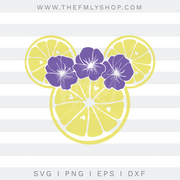 Violet Lemonade SVG, Minnie Lemons SVG, Epcot Flower and Garden SVG