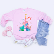 Watercolor Disney Castle / Unisex Sweatshirt - Disney MatchingShirts, Disney Family Shirts, Disney Couple Shirts from The FMLY shop