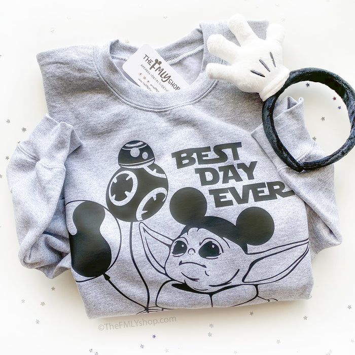 Best Day Ever Baby Yoda Sweatshirt, Baby Yoda Disney Sweatshirt