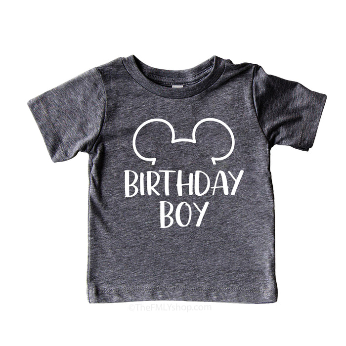 Birthday Boy Disney Shirt For Kid, Matching Disney Birthday Shirts