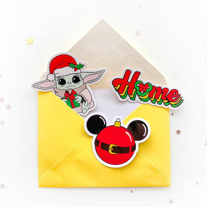 Baby Yoda Christmas Sticker