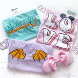 Disney Retro Font T-shirt, Disney Pastel Colors Shirt, Disney Spring Shirt