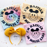 I'm Happier In Mouse Ears, Pastel Tie Dye Tee